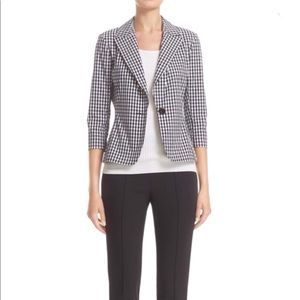 NWT St. John Collection Macro Gingham Blazer Jackt